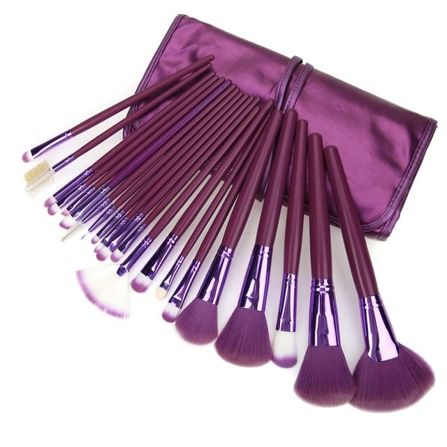 Nuevo 21 unids Moda Pinceles de Maquillaje Profesional Sombra de Ojos Cepillos Cara Colorete Powder Foundation Brush Tool Set con Bolsa de Cosméticos