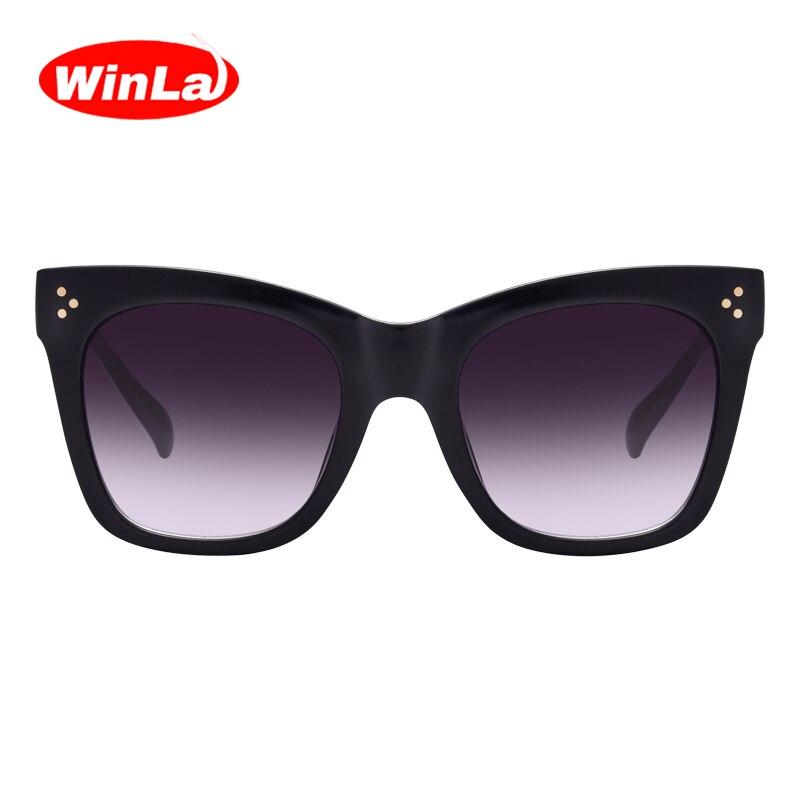 Winla Fashion Sunglasses Women Popular Brand Designer Luxury Sunglasses Lady Summer Style Sun Glasses Female Rivet Shades UV400