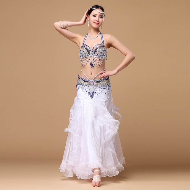 906188f34 € 63.09 10% de DESCUENTO|Rendimiento 2016 ropa de danza del vientre  conjunto de danza Oriental 3 piezas (sujetador, cinturón, falda) traje de  danza ...