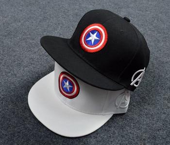 Cotton Marvel Superhero Captain America Baseball Cap Hip Hop Sun Hats For man women Five pointed star Snapback Caps
