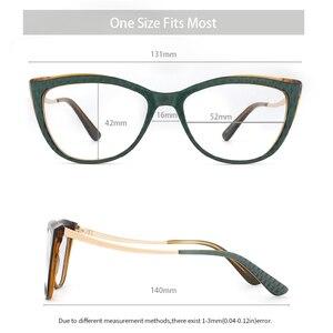 Image 3 - Donne in acetato Occhiali Da Vista Ottico Lente Occhiali Da sole Donne Miopia Occhiali Da Vista Frames Occhiali di Modo di Tendenza Verde #9015