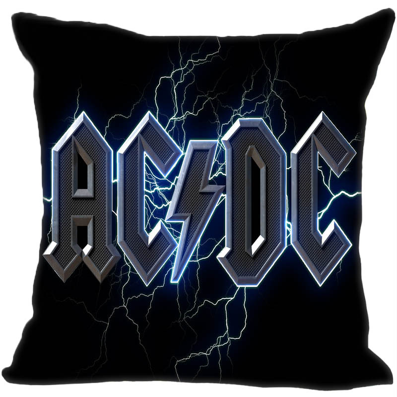 Custom Decorative Pillowcase Music Band Acdc Style Square Zippered Pillow Cover (One Side)180516-54