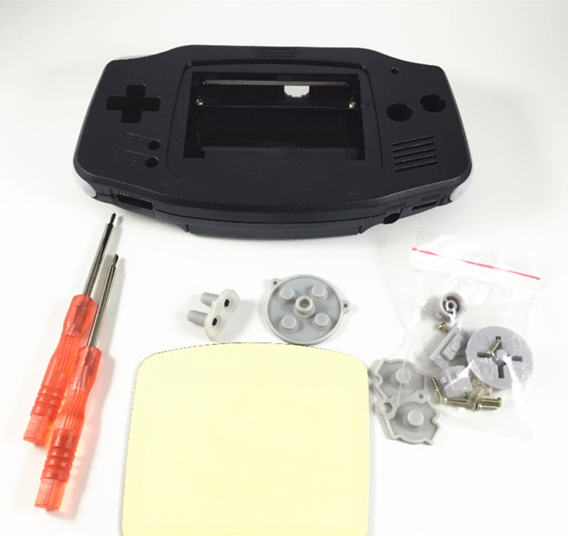 Купить с кэшбэком Full Set Housing Case Replacement Case Plastic Shell Cover for Nintendo for GBA for Gameboy Advance Console Buttons Screw Driver