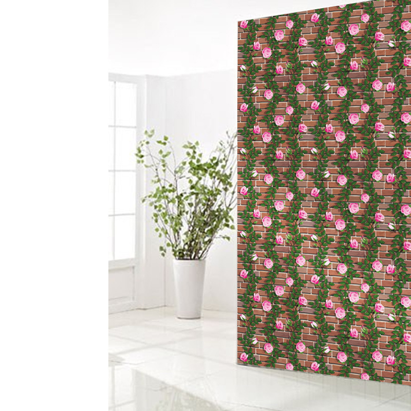 Купить с кэшбэком Green Grass Self adhesive Wallpaper Waterproof Wall Paper Brick Home Decorative Wall Sticker Bedroom HomeDecor SA-1020