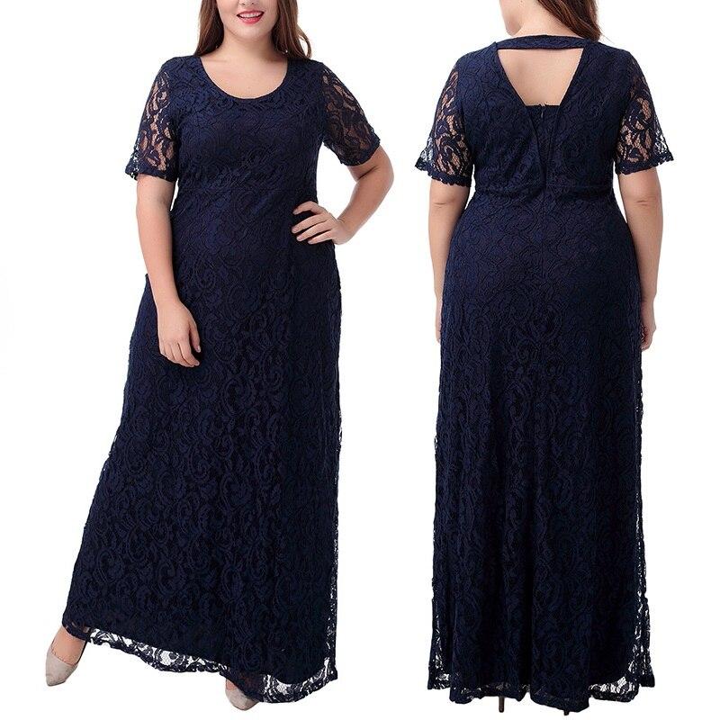 US $28.94 45% OFF Black White Burgundy Plus Size Women 7XL 8XL Party Lace  Maxi Dress Robe Lace Long Femme Plus Size Dresses For Women 4XL 5XL 6XL-in  ...