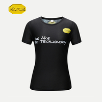 Vibram Sweat absorbent Quick drying Breathable Sports T shirt Fitness Running Couple Casual Sports Short sleeved Gym for Women