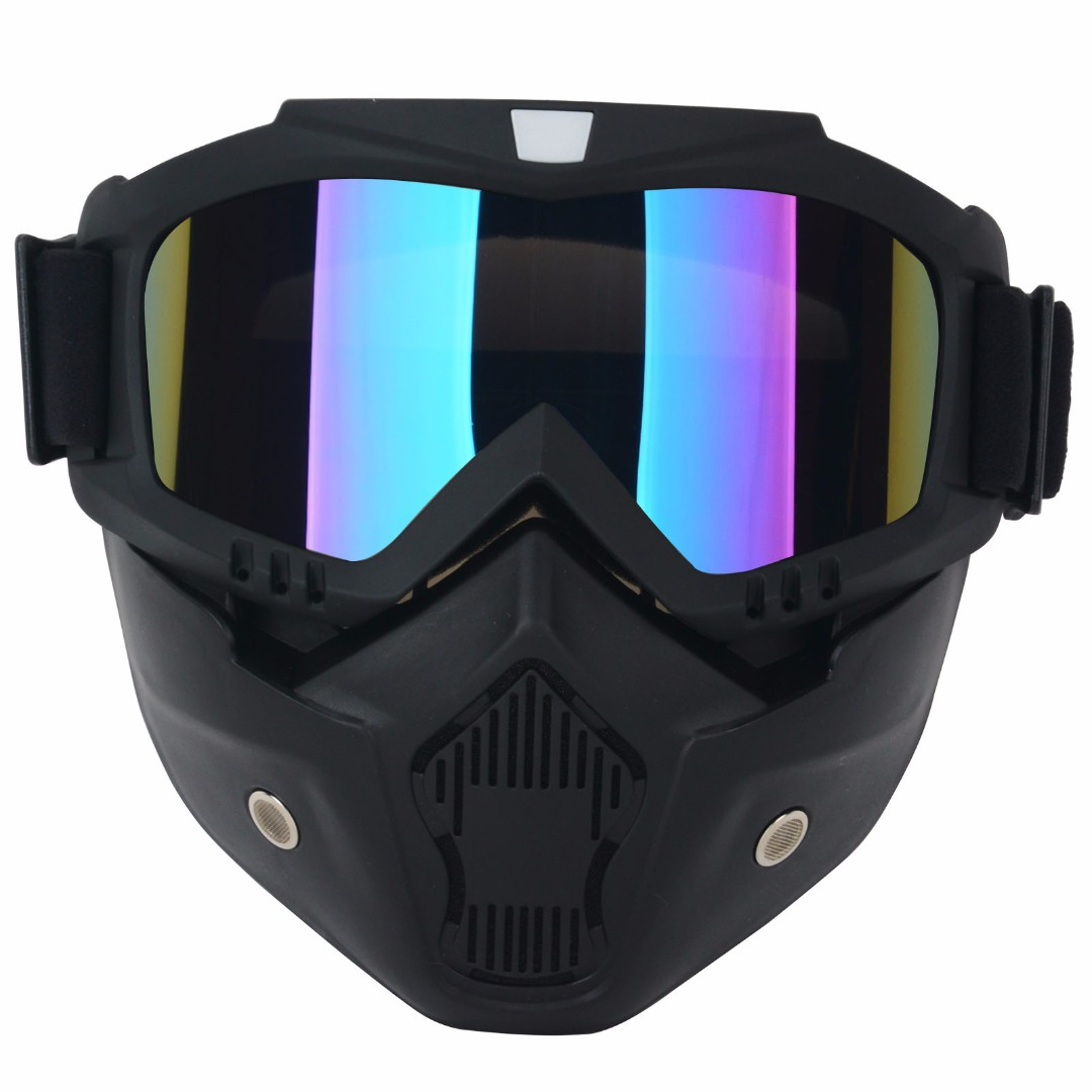 Mayitr Universal Motorcycle Bike Modular Dust Mask Riding <font><b>Helmet</b></font> Goggles Detachable Shield <font><b>Face</b></font> Mask For Cafe Racer Open <font><b>Face</b></font>