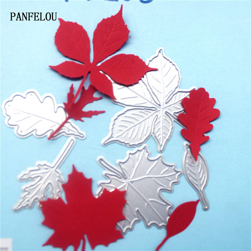 PANFELOU Metal craft maple leaves paper die cutting dies for Scrapbooking/DIY Christmas wedding Halloween cards