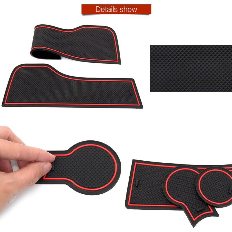 Anti-Slip Rubber Gate Slot Cup Mat for Changan CS15 CS35 CS75 CX70 2012 2013 2014 2015 2016 2017 2018 2019 Accessories Stickers