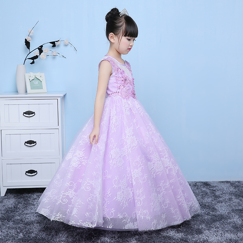 2017 New girls party dress kids designer children teenagers party ...
