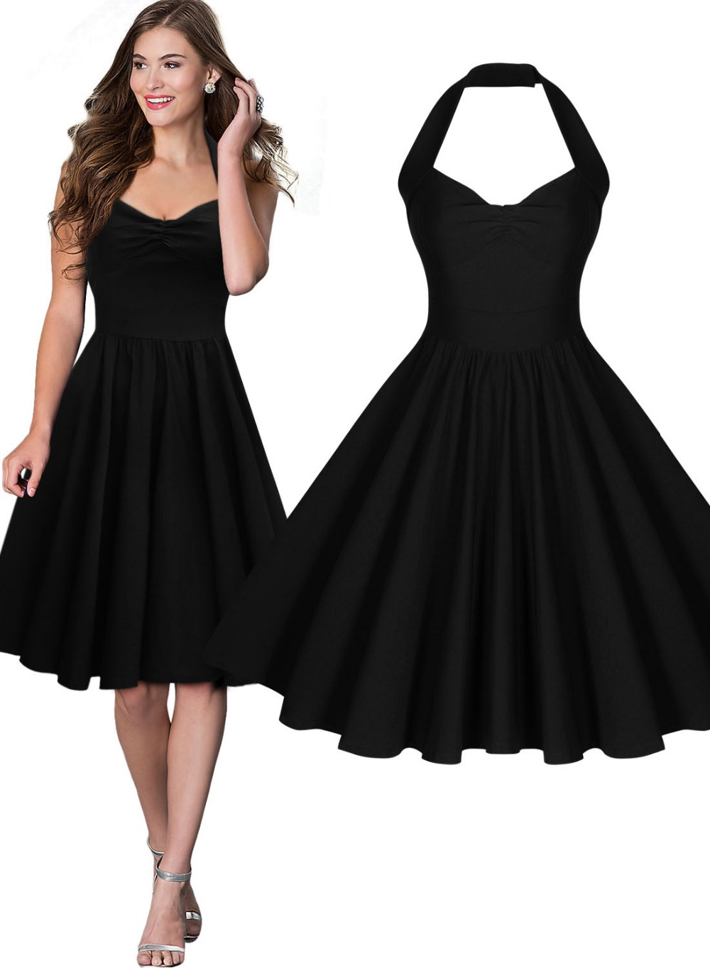 Not absolutely vintage style black dress theme simply