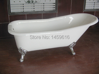 Free Shipping 60 Cast Iron Slipper Clawfoot Tub Not Include Faucet And Drainer W7002 3
