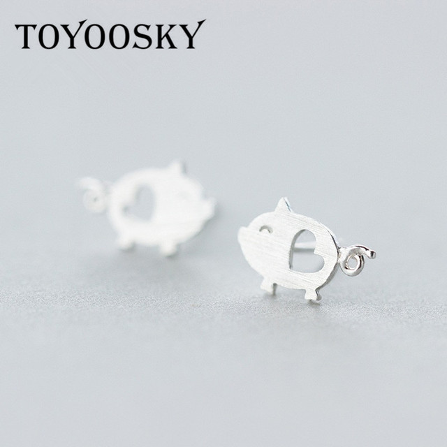 925 Sterling Silver Lovely Pig Heart Animal Stud Earring for Girls Minimalist Party Jewelry y0VjxKFQz