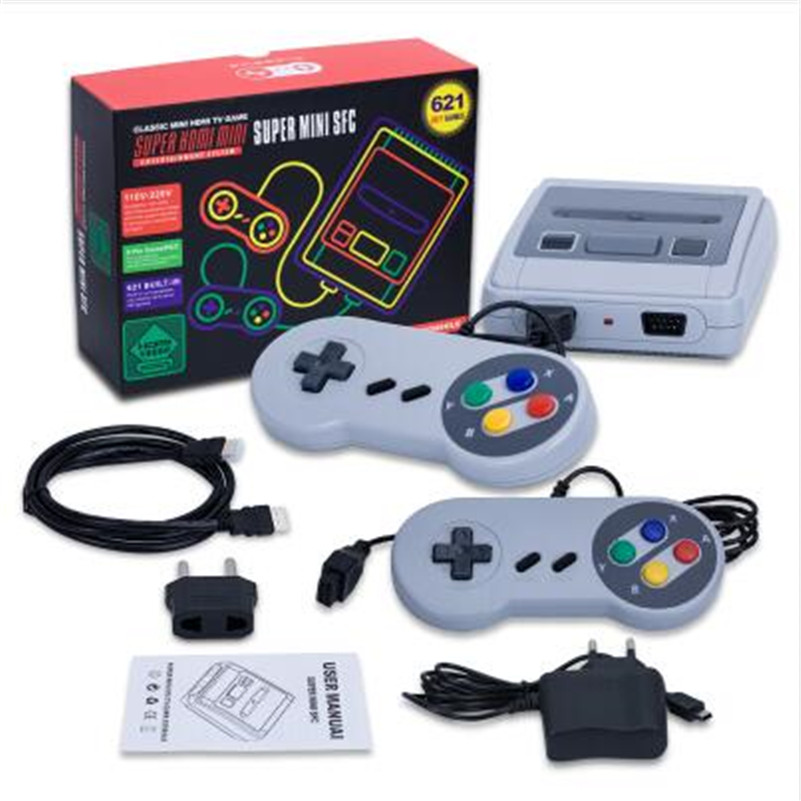 New Retro TV Mini Handheld Game Console HDMI Out Video Game Console For Nes Games With 2 Controllers Built-in 621 Classic Games new tv engf9304gf engf9304