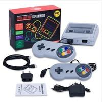 New Retro TV Mini Handheld Game Console Saída HDMI de Vídeo Game Console Para Jogos de Nes Com 2 Controladores Embutido em 621 Jogos Clássicos