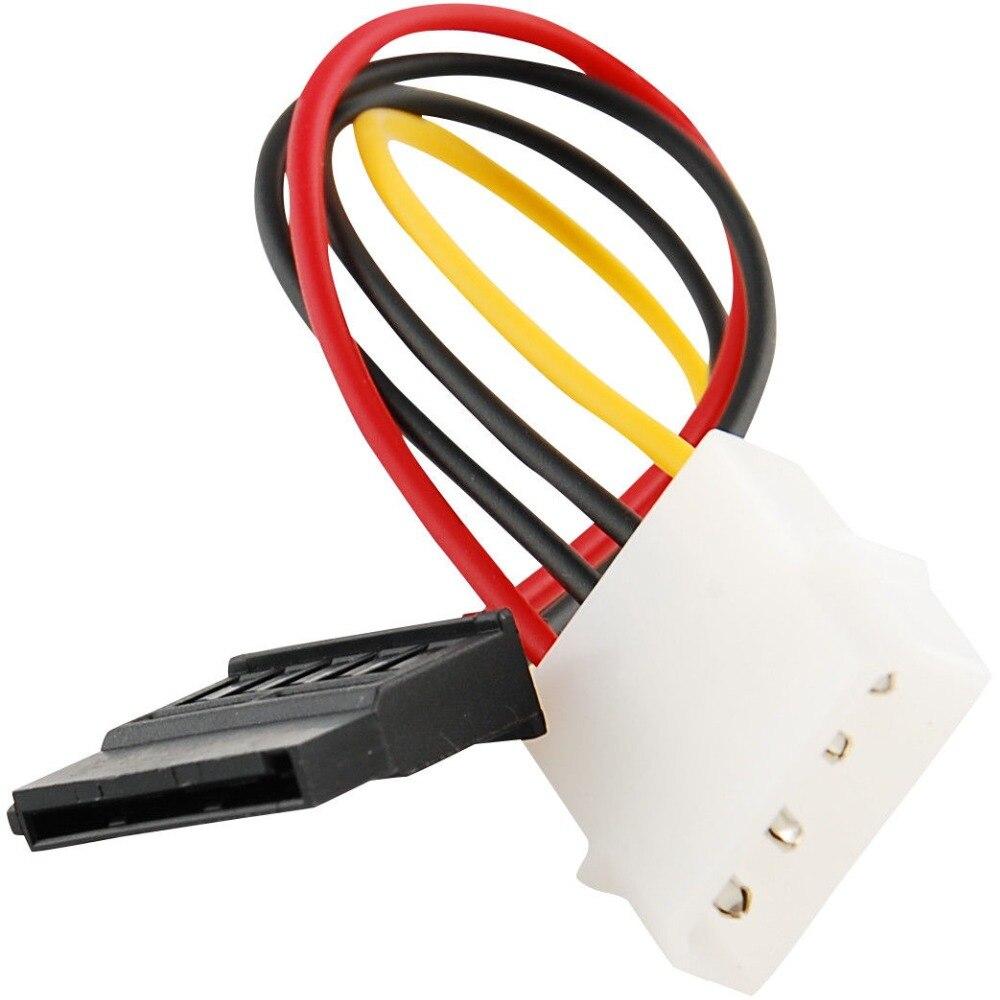 4 broches IDE à 15 broches ligne d'alimentation SATA câble d'alimentation adaptateur de disque dur 15 CM