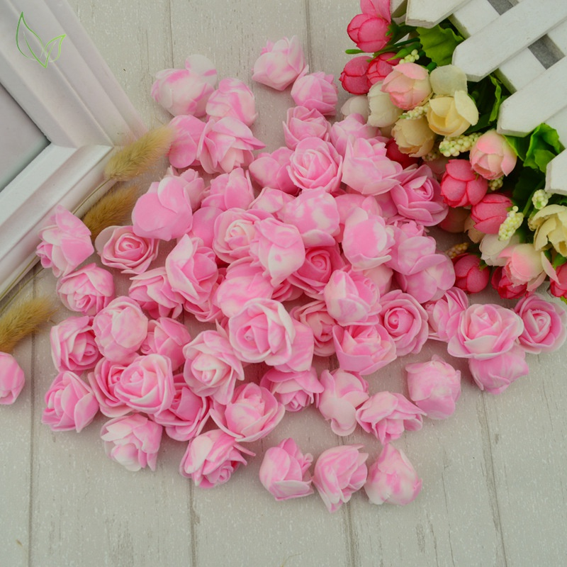 50 pcs PE Foam fake flower roses head artificial flowers cheap wedding decoration for scrapbooking gift box diy wreath Multi-use