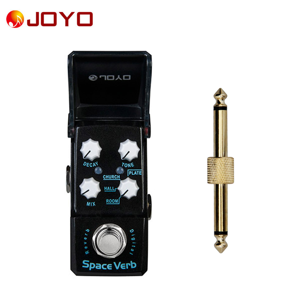 NEW Guitar effect pedal JOYO Digital reverb  Space Verb Ironman series mini pedal JF-317 + 1 pc pedal connector joyo jf 317 space verb digital reverb mini electric guitar effect pedal with knob guard true bypass