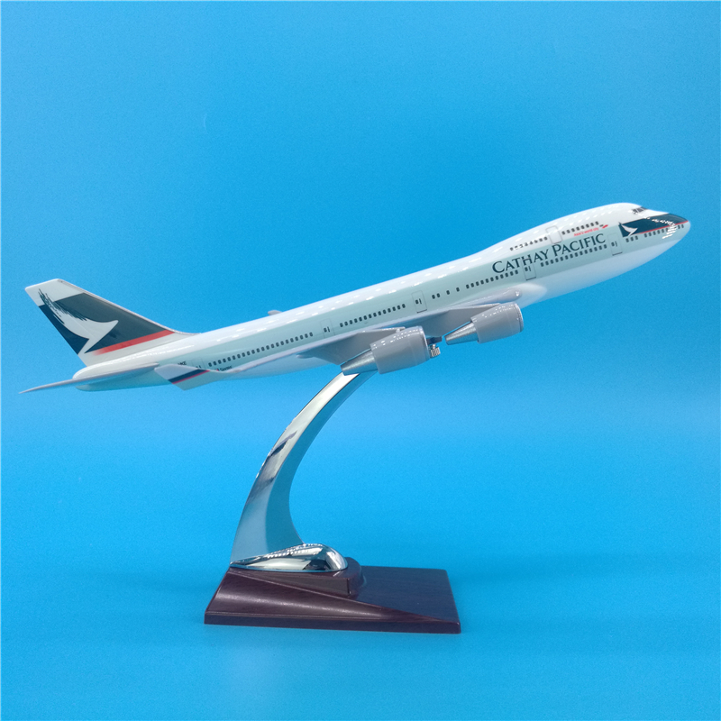 32CM Boeing B747 Hongkong CATHAY PACIFIC Airlines Airway Airplane Model Toys Diecast Aircraft Plastic Alloy Plane Gifts For Kids
