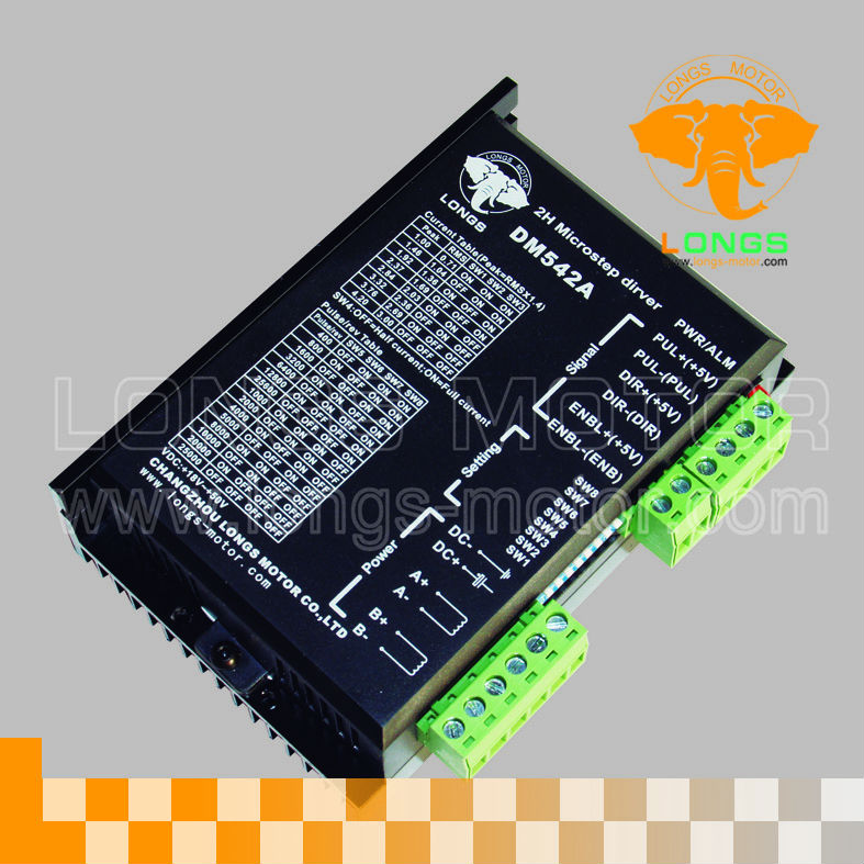 EU Free shipping 1PCS Stepper Motor Driver  DM542A  18~50VDC 128 micsteps for Nema23 Stepper Motor CNC kitsEU Free shipping 1PCS Stepper Motor Driver  DM542A  18~50VDC 128 micsteps for Nema23 Stepper Motor CNC kits