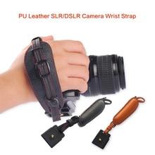 Высокое качество из искусственной кожи Камера руки группы запястье ремень с металлической Quick Release Plate для Canon Nikon Pentax SLR DSLR Камера s