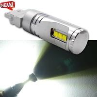 2pcs 3157 led High Power 60W 6SMD XT E LED Turn Signal White P27W T25 bulbs P27/7W Car Light Source lamp 10 30VDC