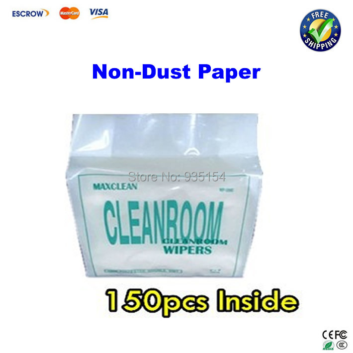 Cost-effective cleanroom wiper non dust cloth paper 150pcs/pack dust free paper clean paper cost effective prevention