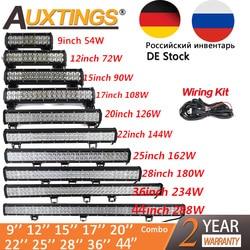 Auxtings 20 inch 126W 12'' 22'' 20'' offroad led light bar 12V 24V Spot Flood led  Work Light for Jeep Car 4WD Truck 4x4 SUV ATV