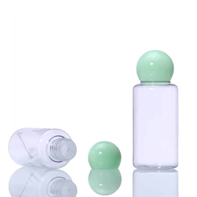 Malian Green Travel Mini Makeup Container Bottle Plastic Transparent Empty Cosmetic Face Cream Pot Bottles 5pcs/Set Hot Sale