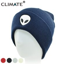 2203ba9bdb853 ... Heros Hat Beanie  good quality c82c3 bbed6 CLIMATE Men Women Alien UFO Winter  Warm Knitted Beanie Outstar Saucer Space ...