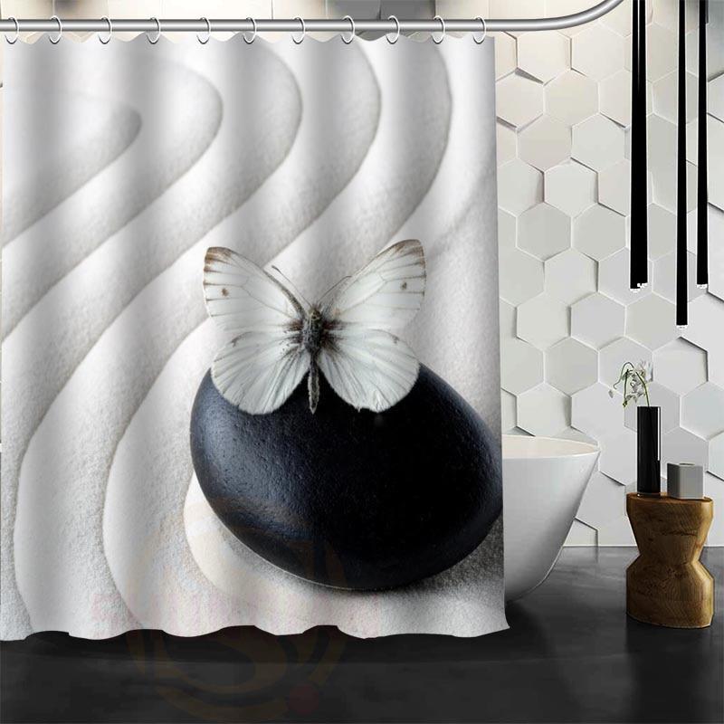 Xüsusi Zen daş Duş Perdesi Polyester Parça Daha çox ölçülü - Ev əşyaları - Fotoqrafiya 5