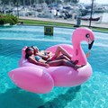 "DHL Drop ship 75""1.9m Elegant Giant Inflatable White Black Swan Pink Flamingo Pool Float Swimming Ring Floating Bed Lounge Chair"