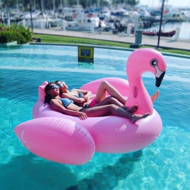 """DHL nave de La Gota 75 """"1.9 m Elegante Blanco Cisne Negro Pink Flamingo Inflable Gigante Piscina Flotador de Natación Anillo Flotante cama Silla de Salón"""