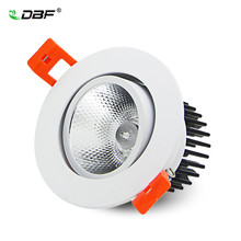 Angle réglable 7W/9W/12W/15W/18W LED COB Downlight Dimmable 3000K/6000K Epistar plafonnier encastré Spot décor à la maison(China)