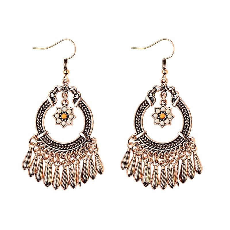 2020 femmes couleur Bronze / argent Vintage ethnique Jhumka Jhumki - Bijoux fantaisie - Photo 4