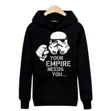 Your Empire Needs you in Star Wars Mens Long Sleeve Hoodies Mens Hip Hop Hoodies and Sweatshirts Gray/Black 3xl