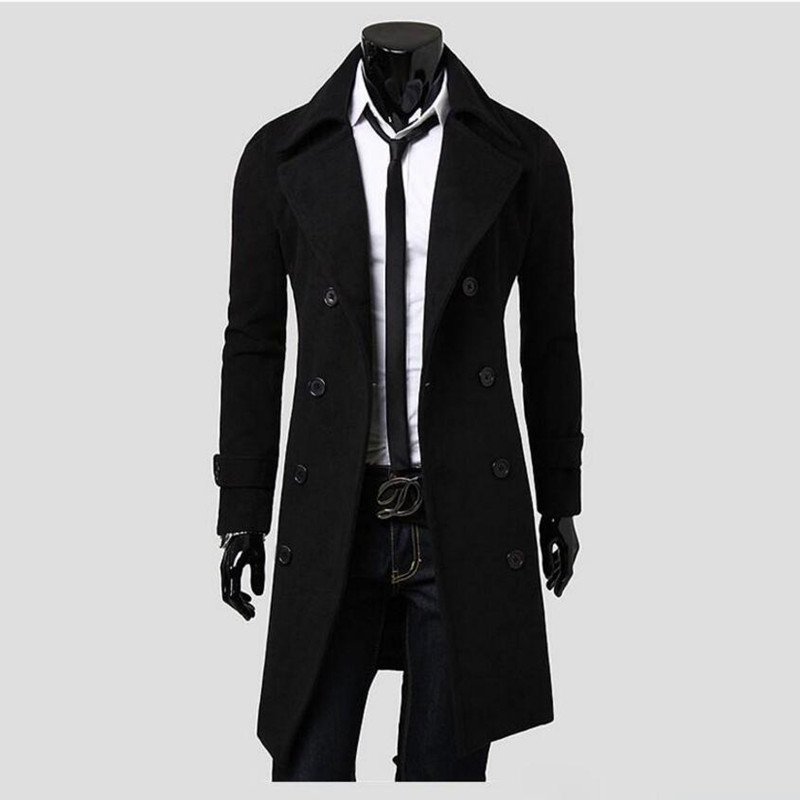 Men Long Peacoat Pea A Winter Down Jacket Mens Coat Male Camel Wool Overcoat Manteau Homme Chaqueta De Invierno De Los Hombres