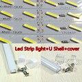 LED Hard Rigid Bar light  DC12V 36 SMD 8520 Chip Aluminum Led Strip light+U Shell+cover  50cm*6pcs free ship