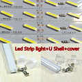 LEVOU luz Bar Disco Rígido DC12V 36 SMD 8520 Chip De Alumínio Tira Conduzida luz + U + Shell tampa 50 cm * 6 pcs navio livre