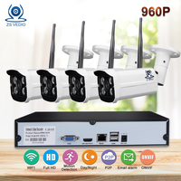 ZSVIDEO Surveillance System Security Camera Outdoor Wireless Motion Security Cameras Night Vision P2P NVR Kits Camera
