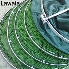 Lawaia Fisherman Stainless Steel Double Rings Fish Protection Fishing Gear Universal Positioning Rubberized Anti-hanging
