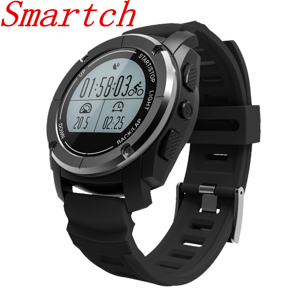 Smartch S928 GPS Sport Smart Watch Climb Ride RUN G-sensor Heart Rate Pressure Temperature Height Waterproof Bluetooth Wristwatc smart baby watch q60s детские часы с gps голубые