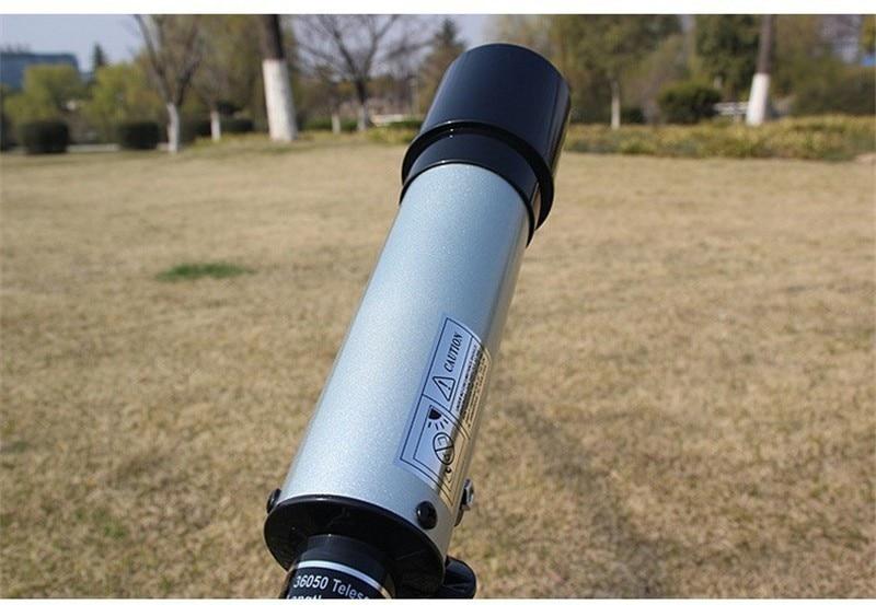 Utomhusbrytnings Astronomiskt Teleskop med bärbar Stativ HD Monokulär Spotting Omfattning 360 / 50mm Teleskop Nyårsgåva