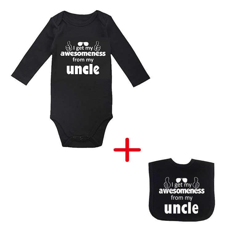 Детский костюм с надписью «I Get My Awesomeness», детский комбинезон, детский подарок для душа, черная хлопковая летняя одежда для малышей