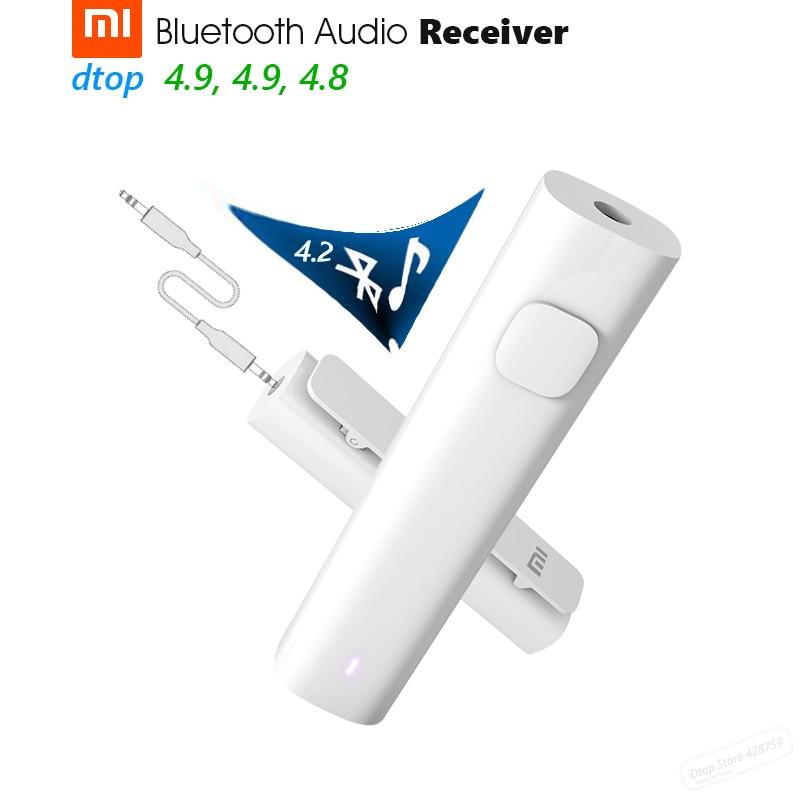 Original Xiaomi Bluetooth Audio Receiver Bluetooth 4.2 Music Wireless Adapter 3.5mm Jack AUX Car Kit Speaker Headphone Hand Free