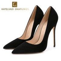 Stilettos Womens Shoes High Heels 12CM Black High Heels Shoes Pumps Womens Heels Sexy Pointed Toe