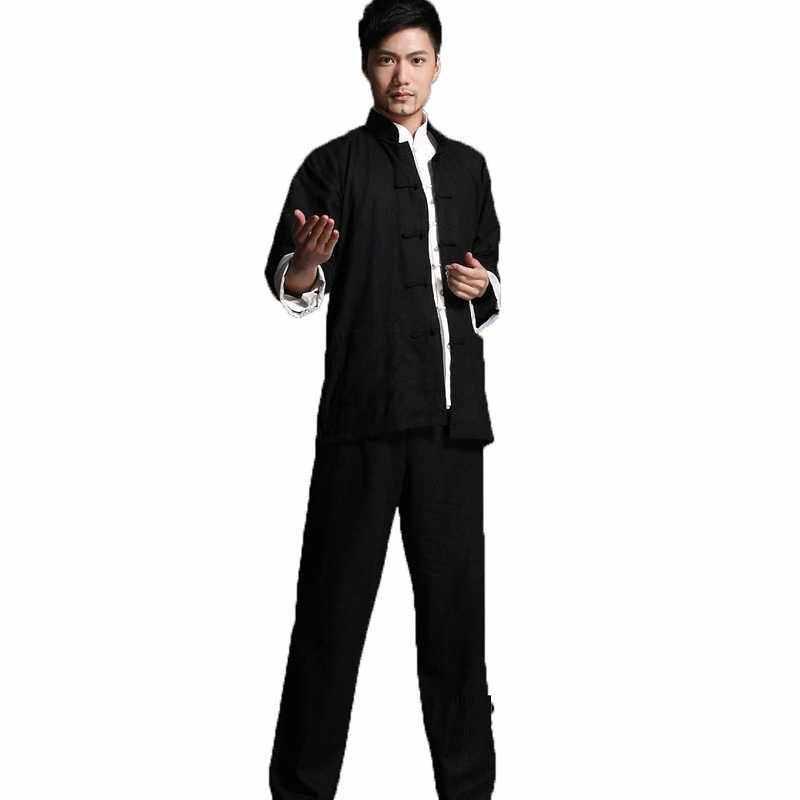 Bruce Lee Vintage Chinese wing chun Kung Fu Uniform Martial Arts Tai Chi  Suits Classic Cotton jacket + pants