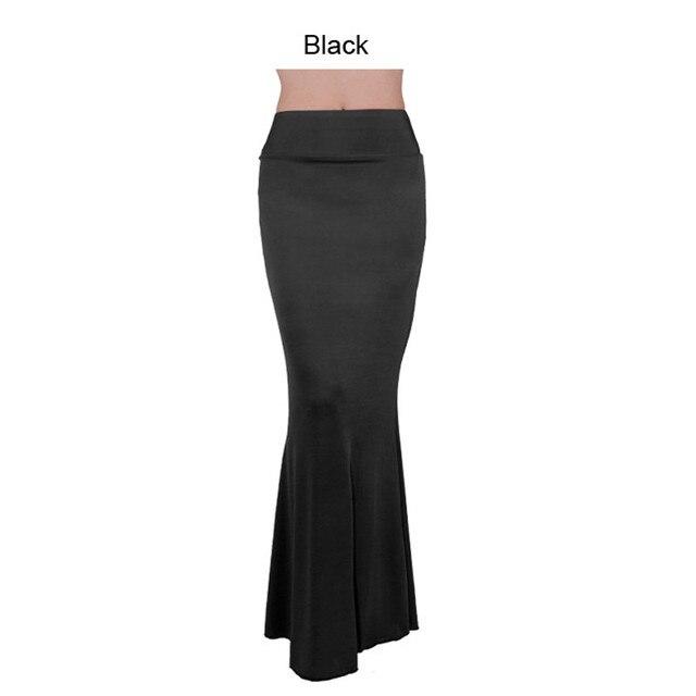 9c5e41118a5abf € 14.82 |Jupe Longue Solide Couleur Femmes Sexy Taille Haute Queue de  Poisson Corset Slim Parole Longueur Vintage Trompette Sexy gothique Style  ...