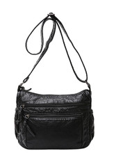 2017 fashion women's small handbag soft leather casual shoulder messenger small bag female handbag black HEIY458