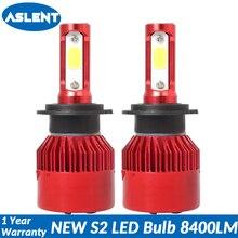 ASLENT 2 Pcs 12V 24V Car Headlight H4 LED H7 H1 H3 H11 H13 HB3 HB4 9004 9005 9006 9007 72W 8400LM Auto Headlamp 6500K Light Bulb цена